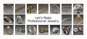 Examples of Projects 1-18 in Professional Jewelery Making